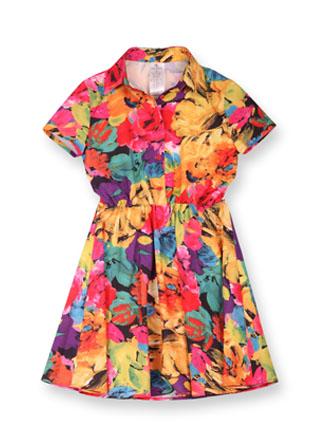 Платье цветы GD322812