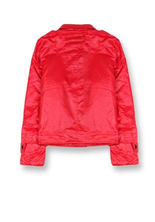 Куртка двубортная под кожу 7002