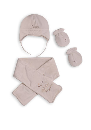 Комплект шарф шапочка варежки С417 SOM