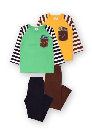 Пижама рукав в полоску Mh-14-13229