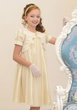 Платье с балеро  (перчатки,сумочка,шляпка) LS-12410